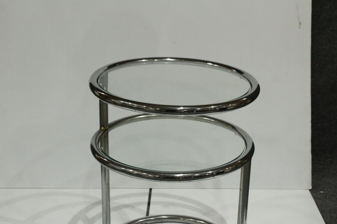 Mid-century Modern tubular chrome side table - 5