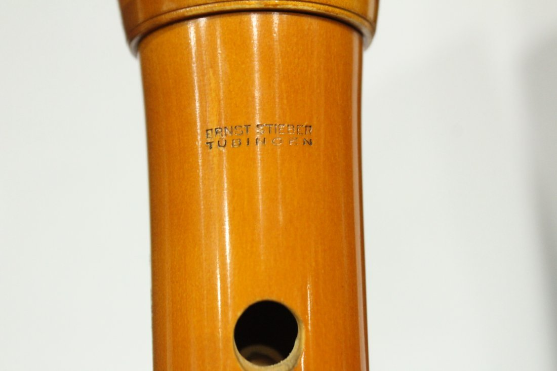 Vintage Ernst Stieber tubingen bass recorder - 4