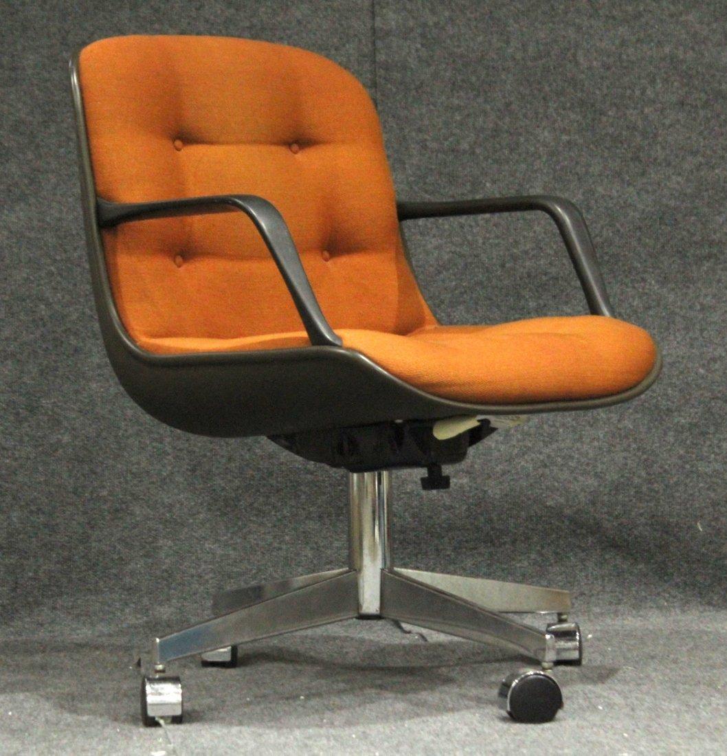 Mid-century Modern Steel case orange arm chair