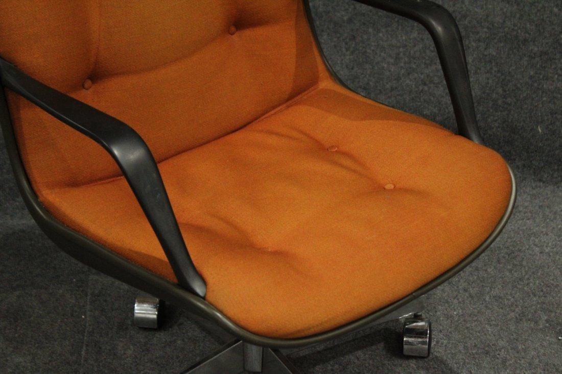 Mid-century Modern Steel case orange arm chair - 2