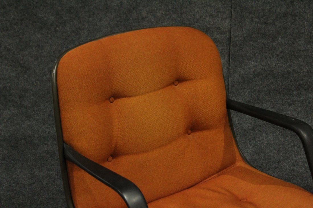 Mid-century Modern Steel case orange arm chair - 3