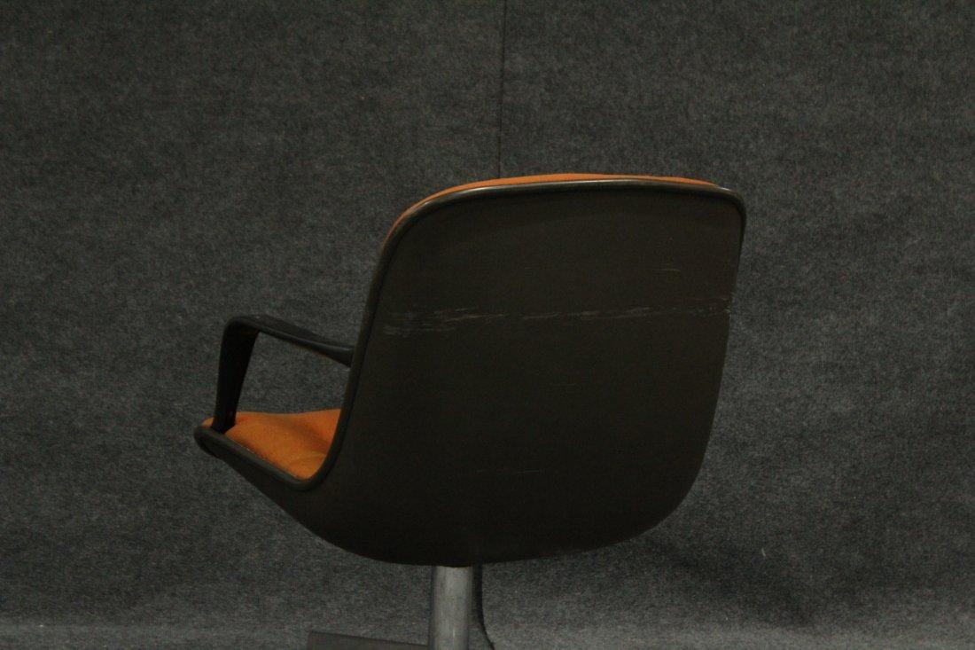 Mid-century Modern Steel case orange arm chair - 5