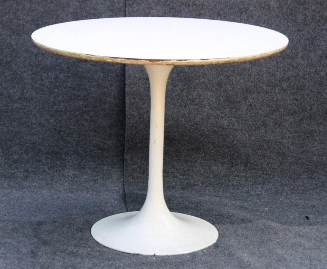 BURKE White TULIP BASE DINING TABLE 36 Inch Diameter
