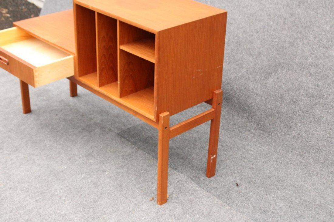 MID CENTURY MODERN DANISH TEAK BOOKCASE STEP STAND - 4