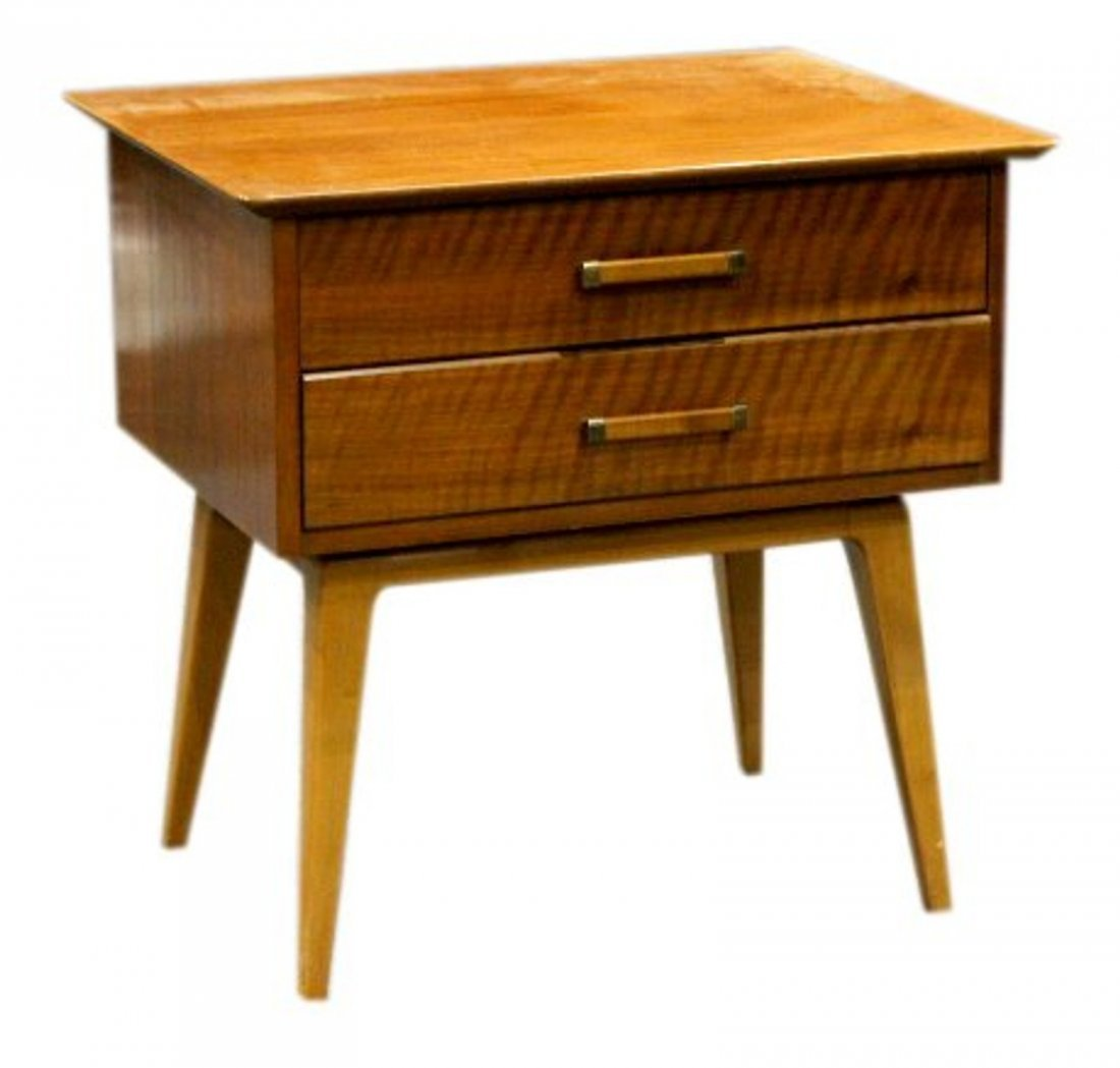 Johnson Furniture Co. Mid-Century Modern 2-Drawer Stand
