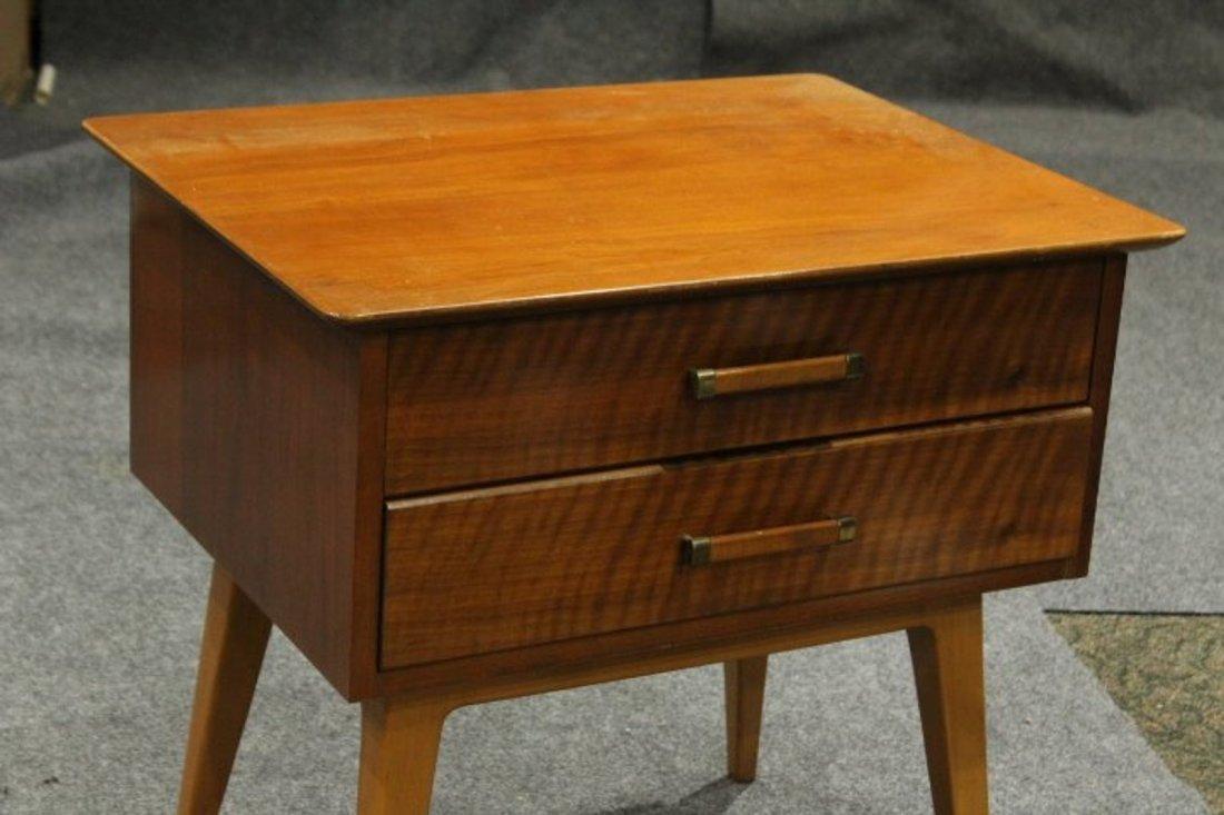 Johnson Furniture Co. Mid-Century Modern 2-Drawer Stand - 2