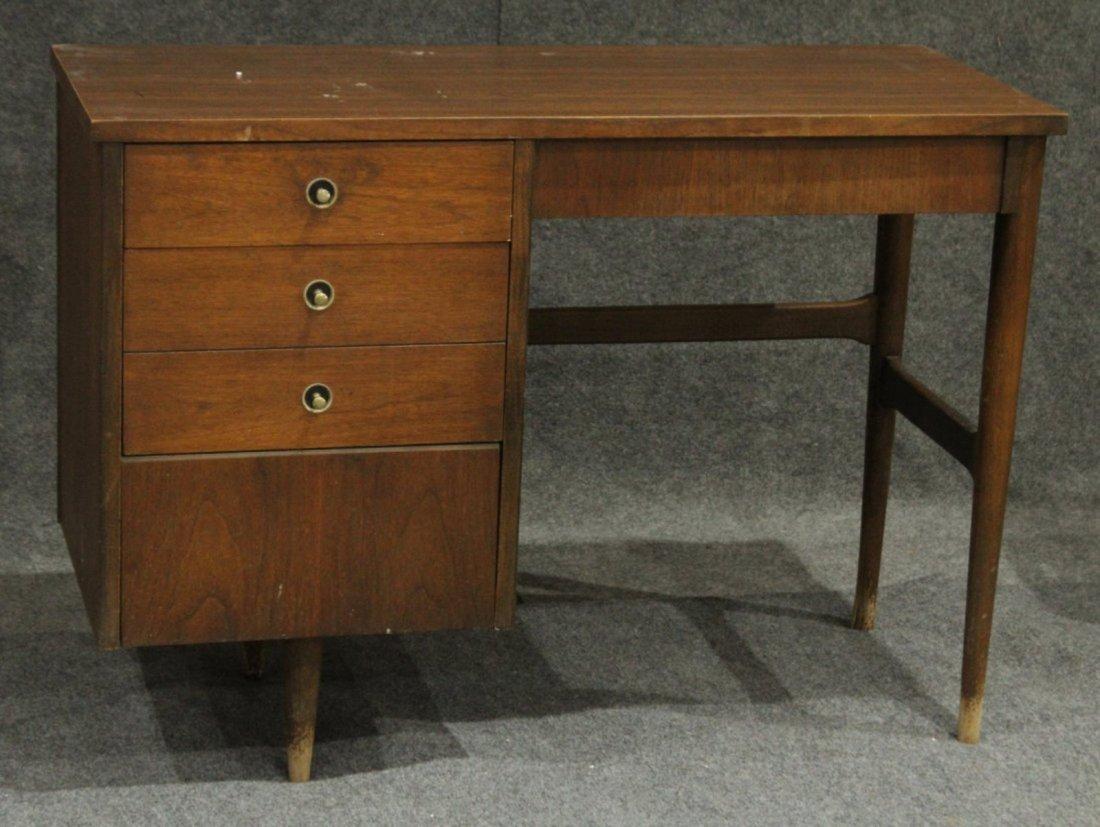 Mid-Century Modern Walnut Desk Side Drawers By Bassett