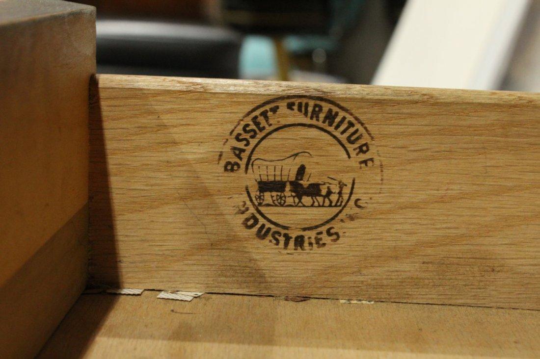 Mid-Century Modern Walnut Desk Side Drawers By Bassett - 2
