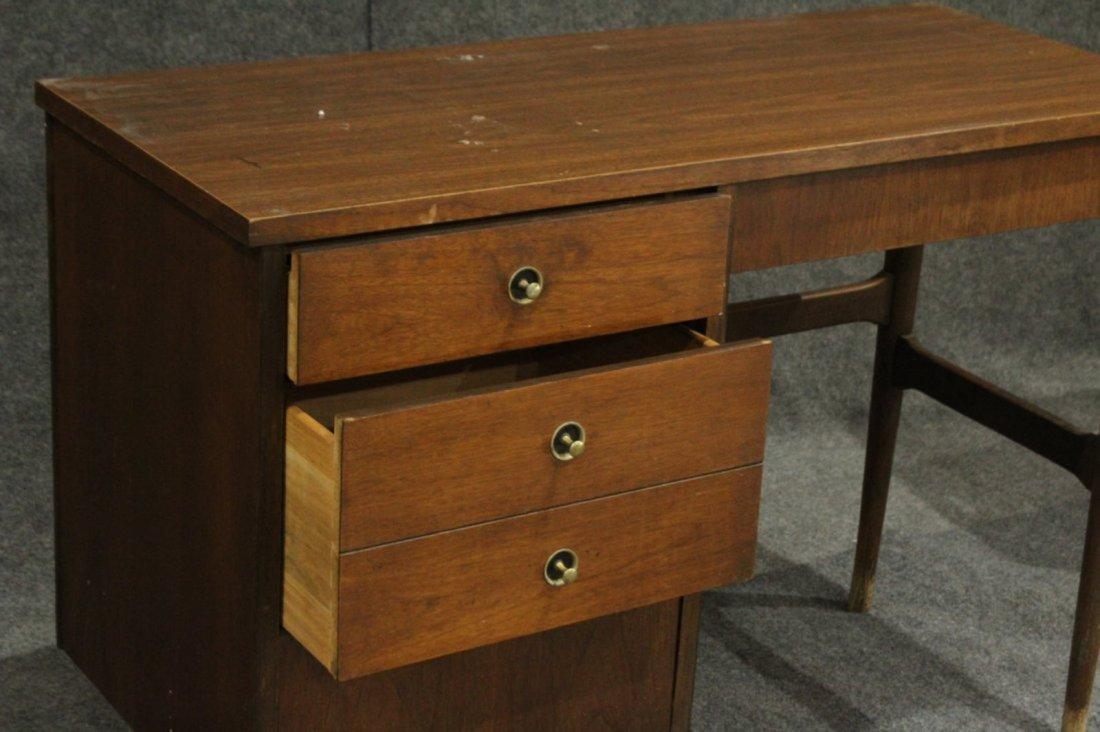 Mid-Century Modern Walnut Desk Side Drawers By Bassett - 3