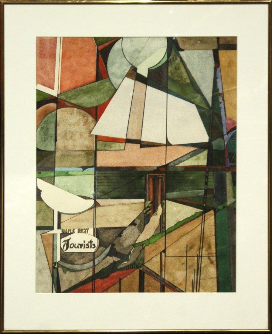 Len Tversky Woodstock Artist watercolor abstract