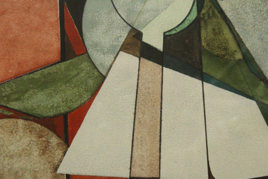 Len Tversky Woodstock Artist watercolor abstract - 3