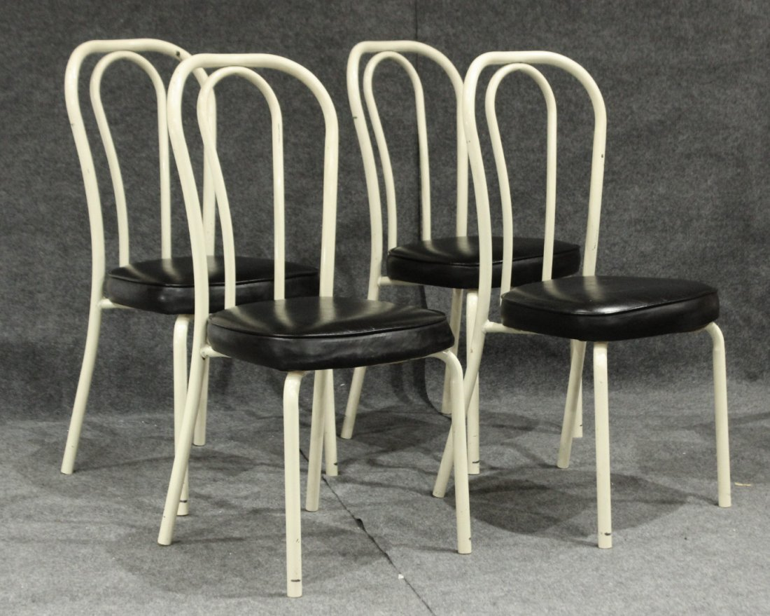 Set of 4 daystrom tubular metal dining chairs