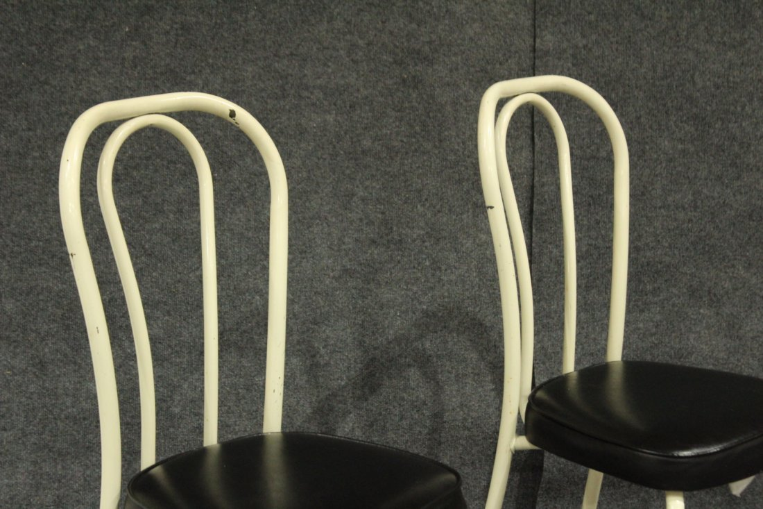 Set of 4 daystrom tubular metal dining chairs - 3