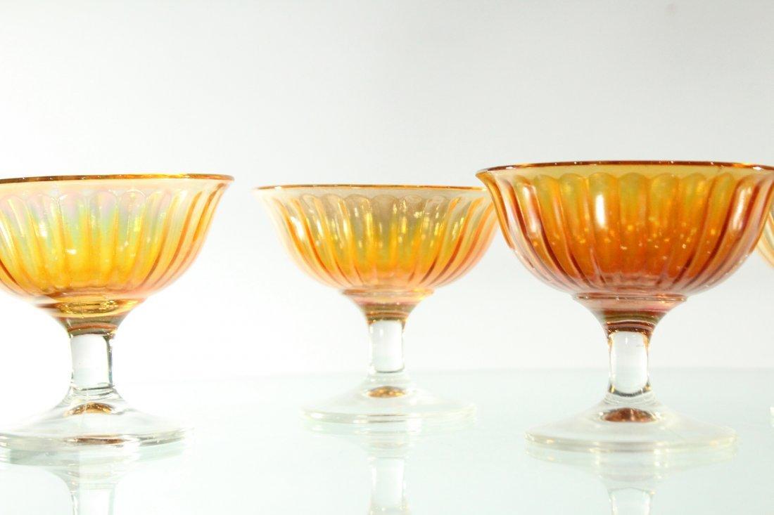 5x Carnival glass sorbet cups - 3