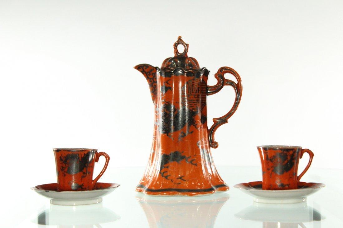 Vintage Japanese tea set, sighed