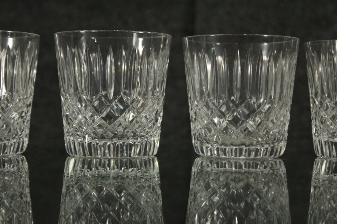 Signed Cut glass Goblets - 2