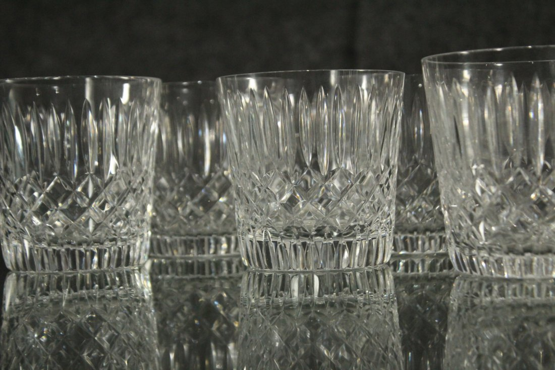 Signed Cut glass Goblets - 4