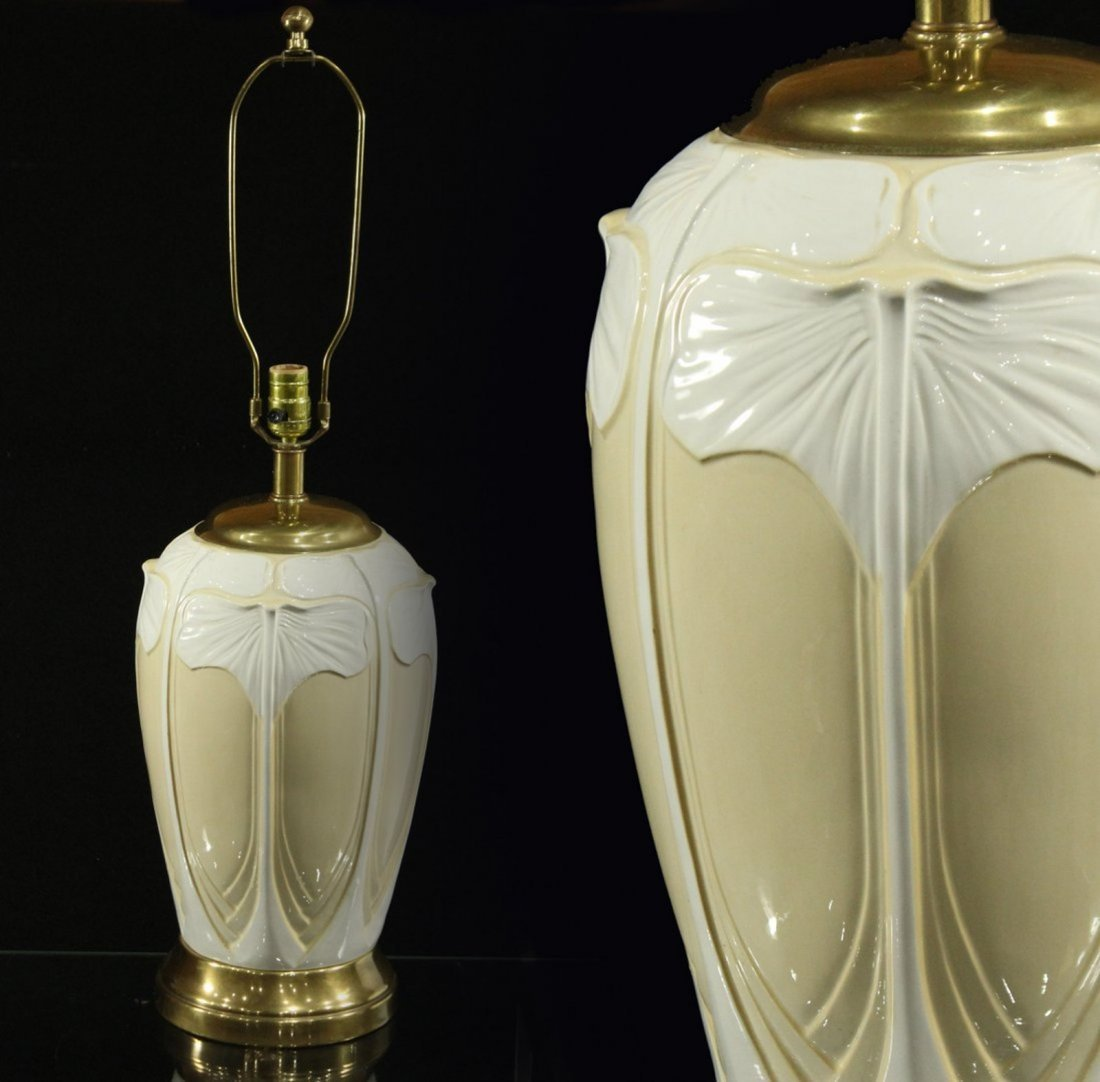 ART NOUVEAU FINE PORCELAIN TABLE LAMP