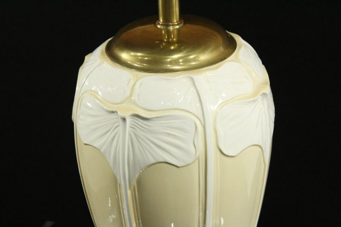 ART NOUVEAU FINE PORCELAIN TABLE LAMP - 2