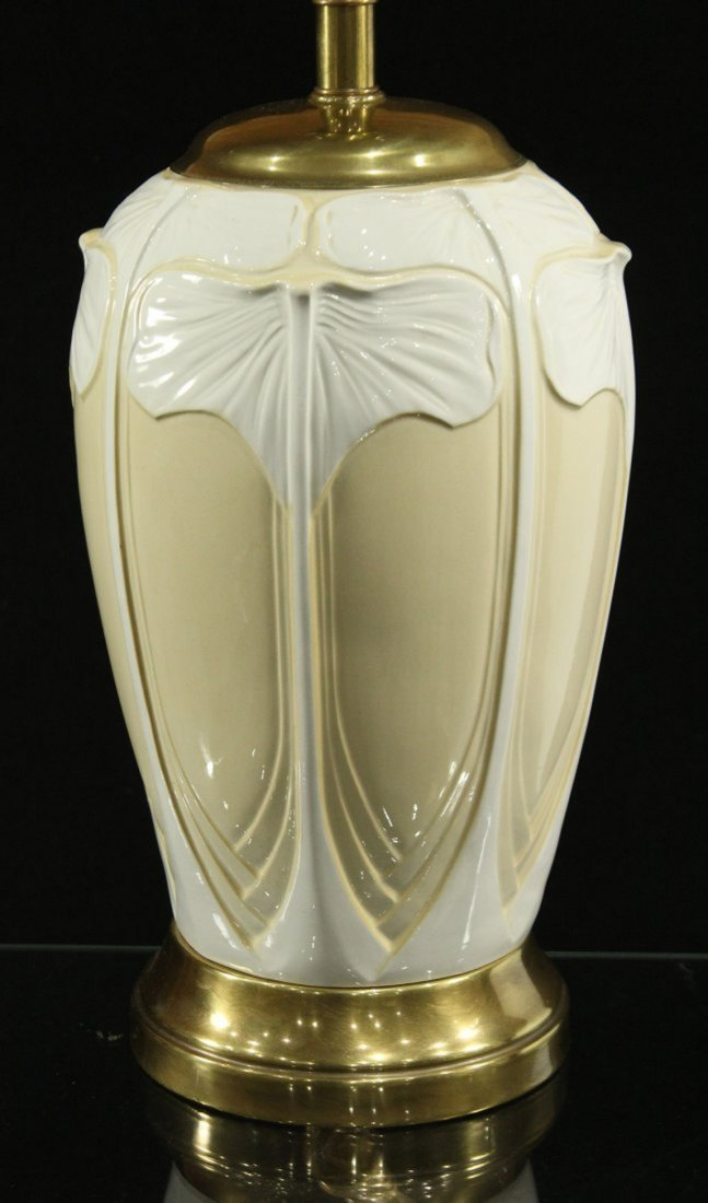 ART NOUVEAU FINE PORCELAIN TABLE LAMP - 3