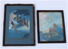 Two [2] MAXFIELD PARRISH Original Framed Prints