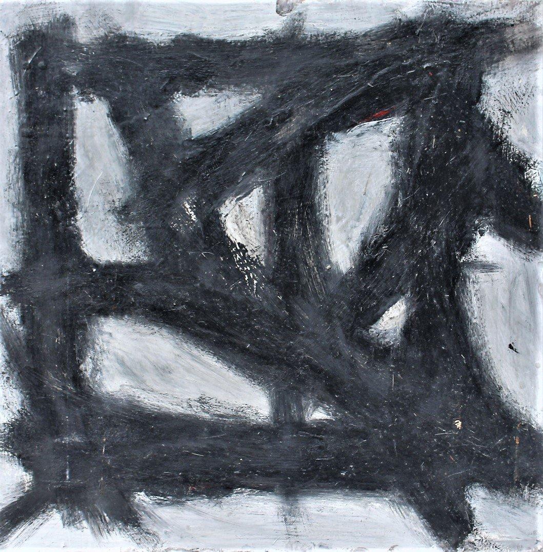FRANZ KLINE attributed Mid Century Modern Abstract Oil. - 2