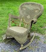 HEYWOOD BROTHERS WAKEFIELD Fancy Victorian Wicker Chair