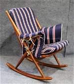 Danish Frank Reenskaug for Bramin Møbler Rocking Chair