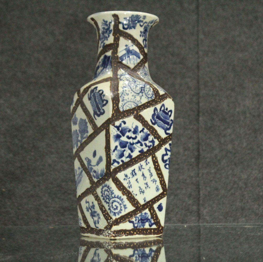 Oriental Hand-painted vase