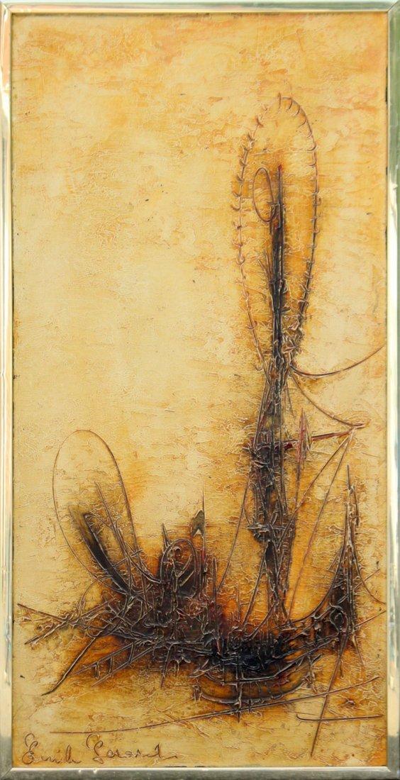 EMILE GERSHAD , Mid Century Modern Abstract Oil/C