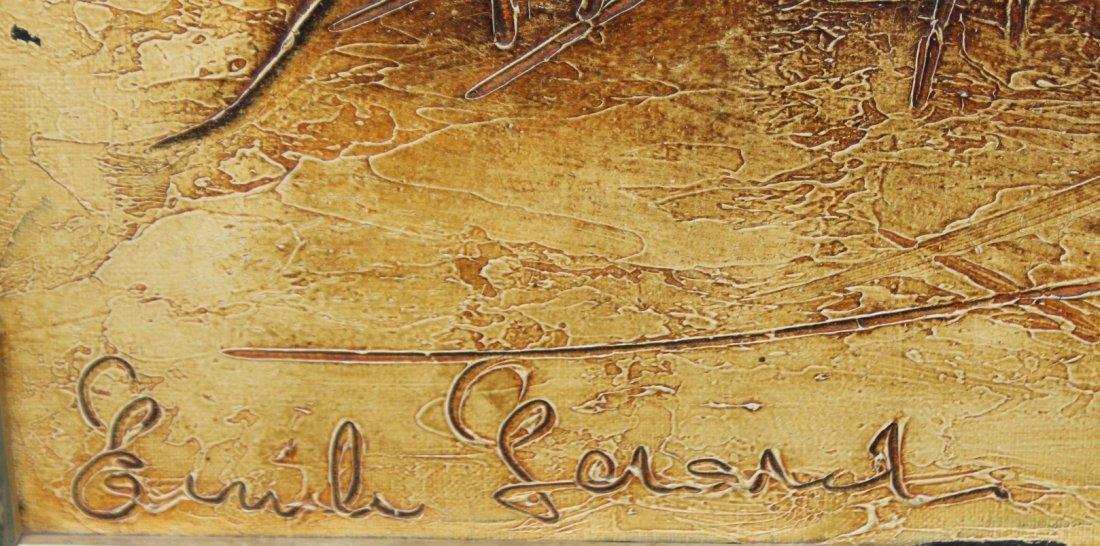 EMILE GERSHAD , Mid Century Modern Abstract Oil/C - 2