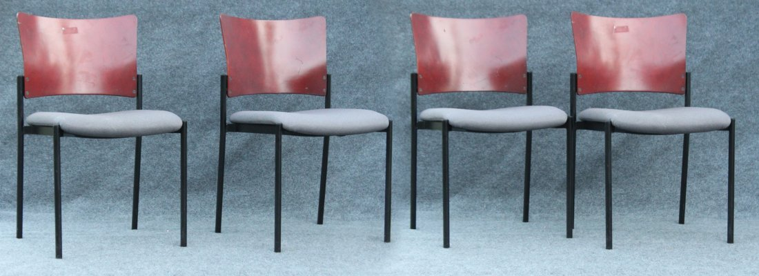 Four [4] SET Mid-Century Design SIDE CHAIRS / DINING