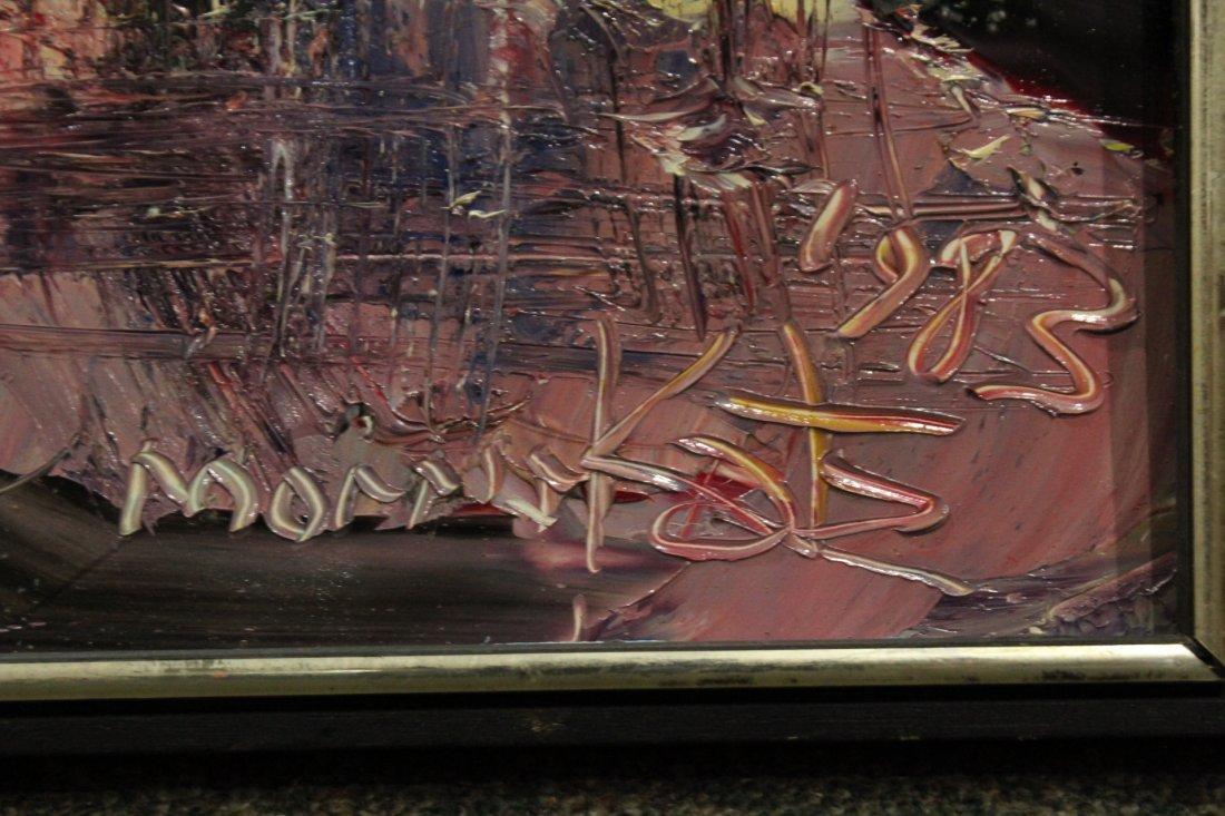 MORRIS KATZ 1983 Listed Jewish American ABSTRACT Oil/B - 2