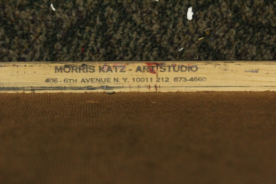 MORRIS KATZ 1983 Listed Jewish American ABSTRACT Oil/B - 3