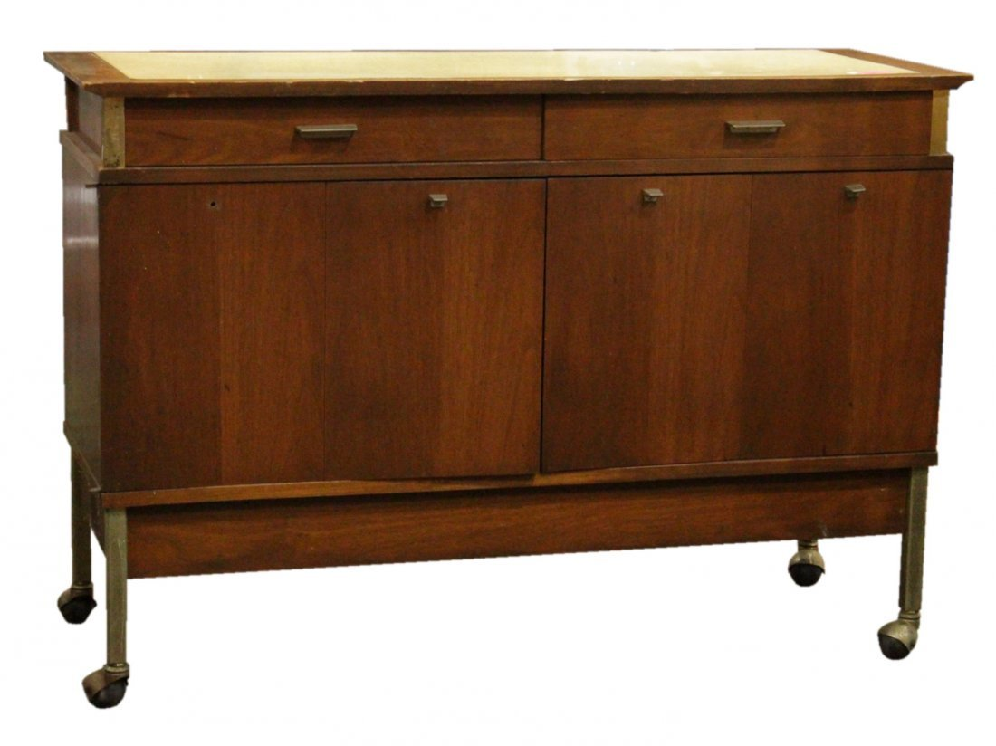 Mid-Century DANISH DESIGN TEAK WOOD SERVING CABINET