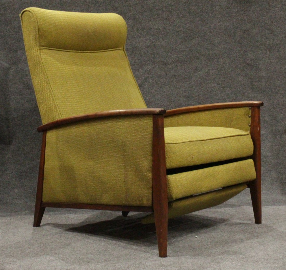 Mid-Century DANISH DESIGN TEAK FRAME RECLINING CHAIR