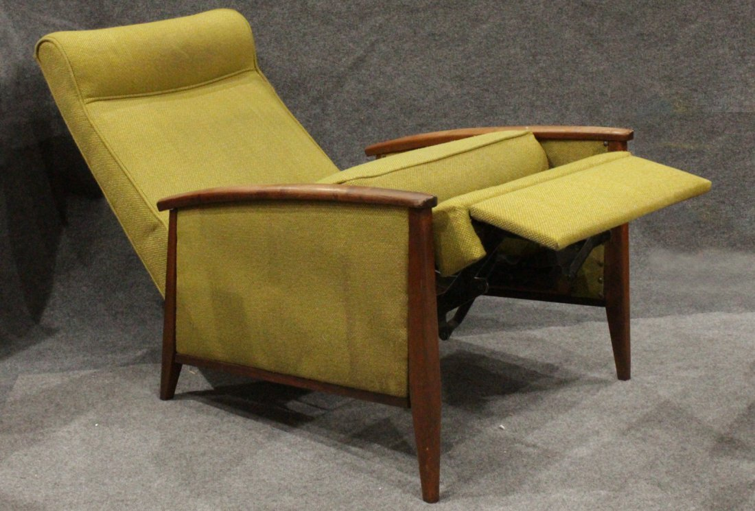 Mid-Century DANISH DESIGN TEAK FRAME RECLINING CHAIR - 4