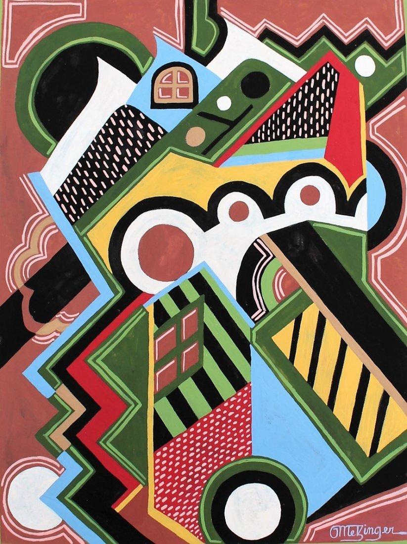 JEAN METZINGER, Gouache, Mid-Century Modern Abstract
