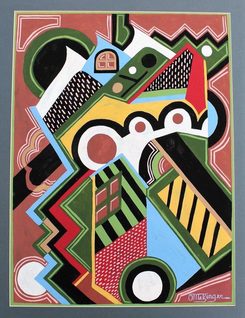 JEAN METZINGER, Gouache, Mid-Century Modern Abstract - 2