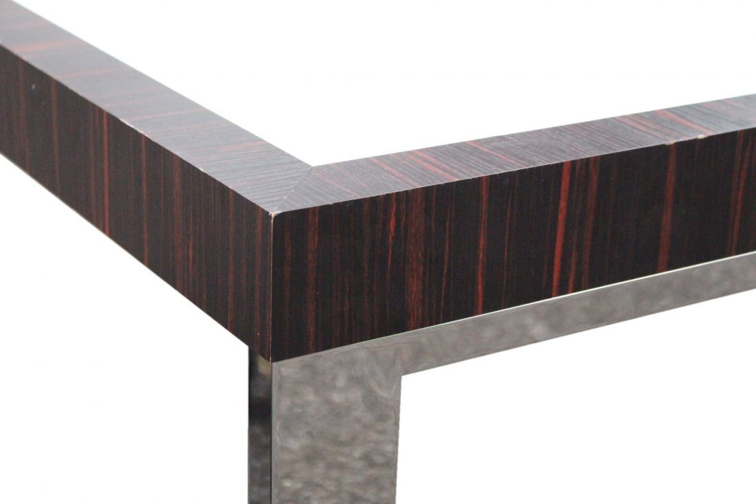 MILO BAUGHMAN Flat Bar Chrome, Rosewood, COFFEE TABLE - 2
