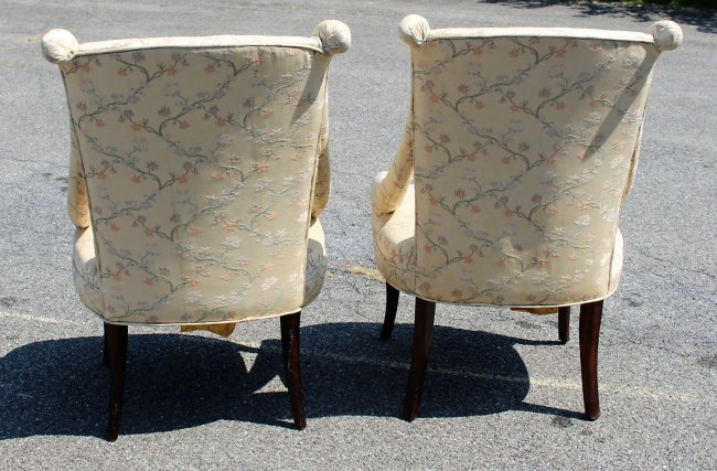 Pair HOLLYWOOD REGENCY TALL BACK DESIGNER CHAIRS - 6