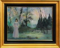 RUTH MCKEE 1929-2012, Pa Artist OIL FIGURE IN EVENING