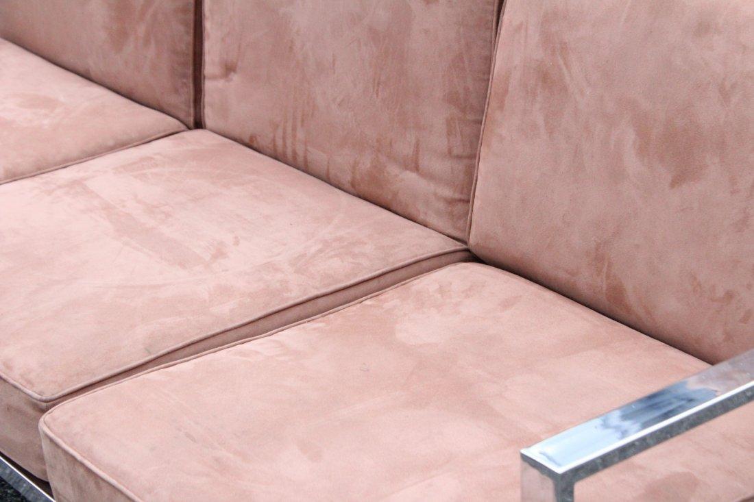 MILO BAUGHMAN Chrome Flat Bar Sofa - Clean Upholstery - 3