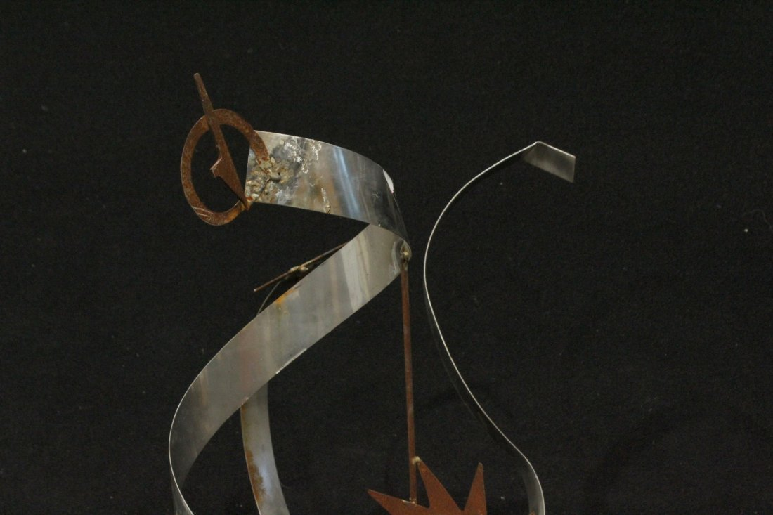 MODERN DESIGN SCULPTURE IN METAL / STEEL - 3