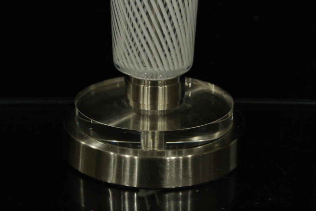 Mid-Century Modern ITALIAN ART GLASS TABLE LAMP - 4