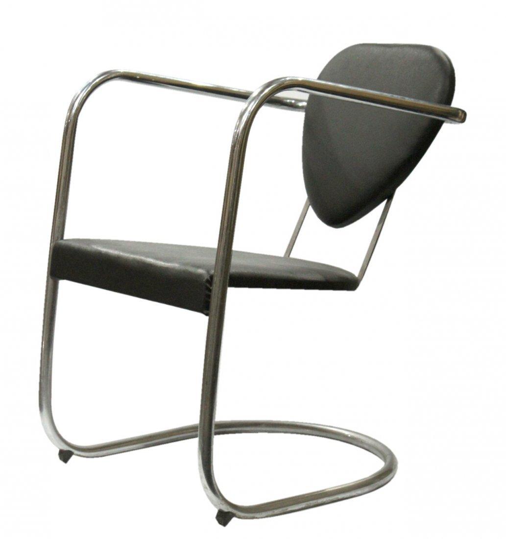 Koken Mid-Century Modern Tubular Chrome Chair