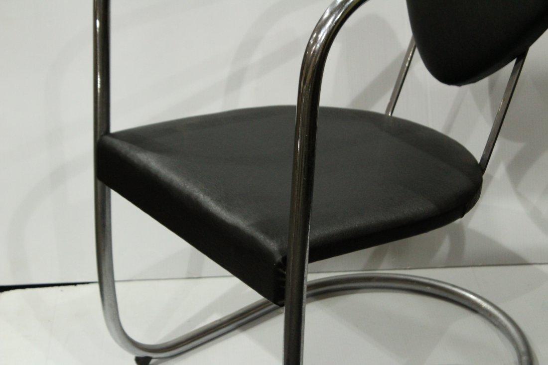 Koken Mid-Century Modern Tubular Chrome Chair - 2