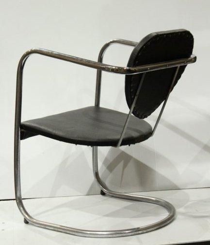 Koken Mid-Century Modern Tubular Chrome Chair - 5