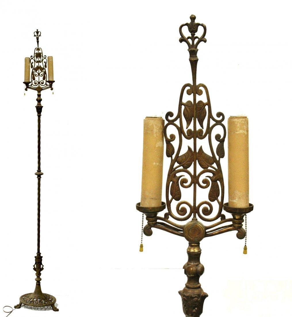OSCAR BACH Style Arts & Crafts POLE FLOOR LAMP