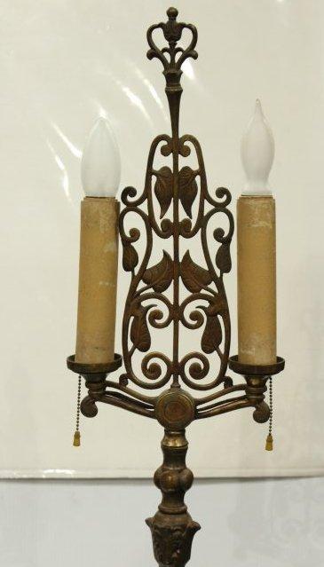 OSCAR BACH Style Arts & Crafts POLE FLOOR LAMP - 2